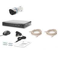 Комплект проводного видеонаблюдения Tecsar IP 1OUT