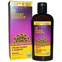 Desert Essence, Органическое масло кокоса & жожоба, 4 унции (118 мл)