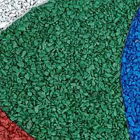 Декоративный щебень цветной зеленый