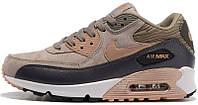 Женские кроссовки Nike Wmns Air Max 90 Leather Iron Metallic, найк, айр макс