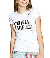 COFFE TIME - Футболка Женская с Дизайном XL (50-52)