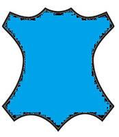 Краска для кожи, замши, нубук 100мл Голубой