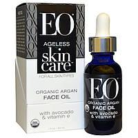EO Products, Антивозрастной Уход за Кожей, Увлажняющее аргановое масло для лица, 1 унция (30 мл)