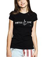 COFFE TIME Line - Футболка Женская с Дизайном XS (42-44)