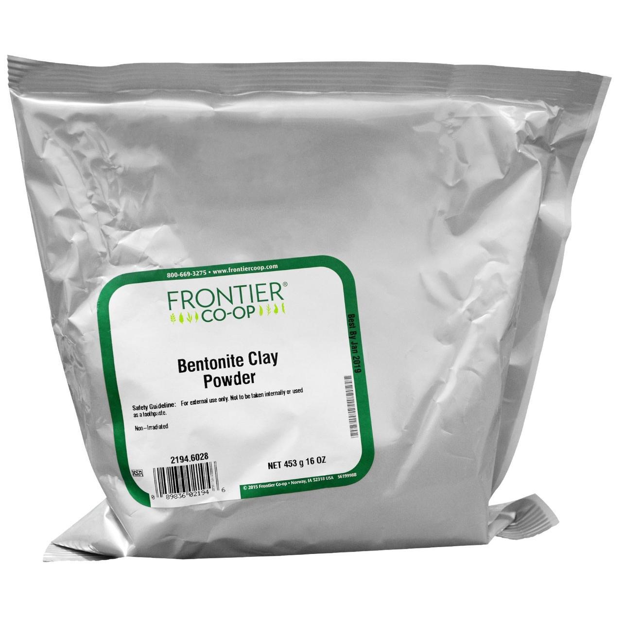 Frontier Natural Products, Порошок бентонитовой глины, 16 унций (453 г) - Интернет-магазин для здоровой жизни в Киеве
