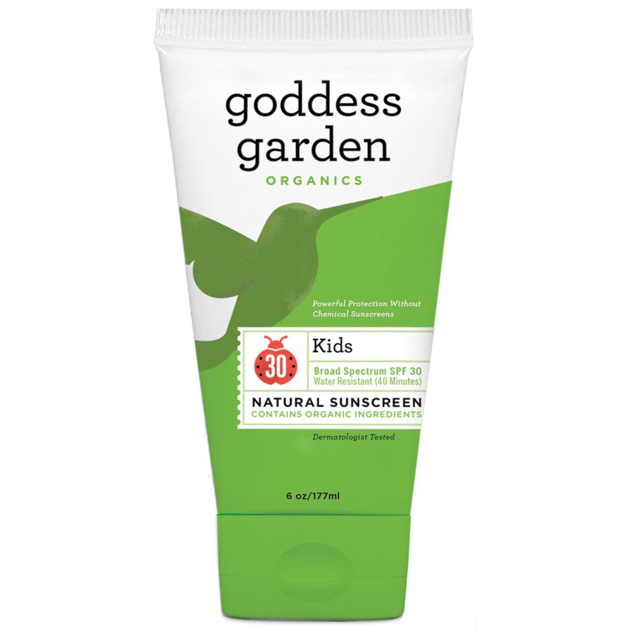 Goddess Garden, Organics, натуральное солнцезащитное средство для детей, SPF 30, 6 унций (177 мл) - Интернет-магазин для здоровой жизни в Киеве