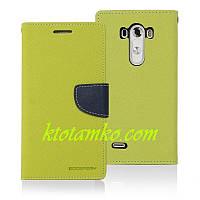 Чехол Book Cover Goospery LG G4 Green