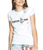 COFFE TIME Line - Футболка Женская с Дизайном