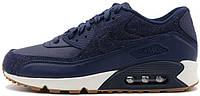 Мужские кроссовки Nike Air Max 90 Premium Midnight Navy, найк, айр макс