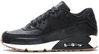Женские кроссовки Nike Air Max 90 Premium Black Sail, найк, айр макс