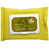 Innisfree, Очищающая салфетка из настоящих оливок, 30 салфеток (150 г)