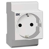 Розетка на DIN-рейку РАр10-3-ОП с заземлением IEK