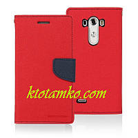 Чехол Book Cover Goospery LG G4 Red