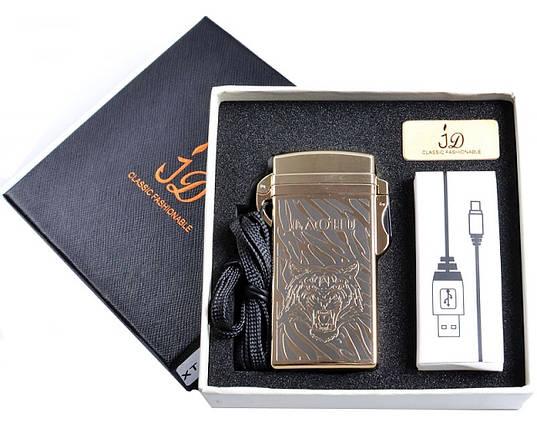 Электроимпульсная USB зажигалка Тигр №4759, нано-технологии для курильщиков, модный и стильный гаджет, фото 2