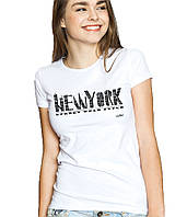 New York - Футболка Женская с Дизайном L (48-50)