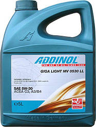 Масло моторное ADDINOL GIGA LIGHT MV 0530 (5W-30) 5 L