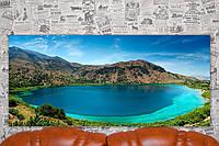 """Картина на холсте """"Озеро Курна. Крит. Природа"""". 110х50 см."""