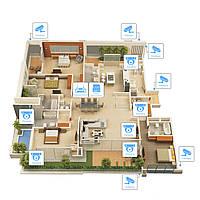 Система AHD 2Мп видеонаблюдения на 12 камер «под ключ» для частного дома