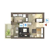 IP видеонаблюдение 1 камера (4Мп) для квартиры