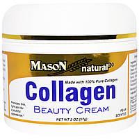 Mason Naturals, Крем с коллагеном, с ароматом груши, 2 унции (57 г)