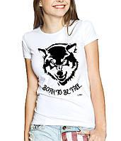 Wolf - Футболка Женская с Дизайном