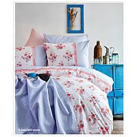 Набор постельное белье с покрывалом пике Karaca Home Melina 2017-2 pembe