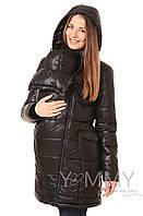 Yammy Mammy Пуховое слингопальто 3в1 для беременных и слингоношения Yammy Mammy черное арт. 806.2.1