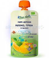 Fleur Alpin Пюре Fleur Alpine Organic яблоко/груша/банан с 6 месяцев 120 г