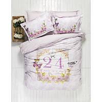 Постельное белье Karaca Home History лиловое пано ранфорс
