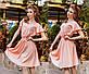 """Женское стильное летнее платье 1129 """"Софт Клёш Крылышки"""" в расцветках, фото 5"""