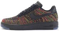 Женские кроссовки Nike Air Force 1 Flyknit Low Bright Crimson, найк, айр форс