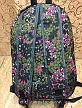 Принт рюкзак качество с кожаным дном Унисекс/спортивный спорт городской стильный(только опт), фото 4