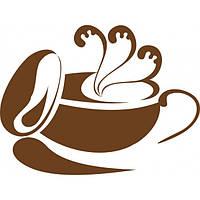 Виниловая интерьерная наклейка - кофе 77