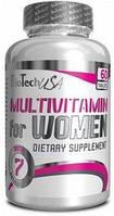 Комплекс витаминов и минералов BioTech USA Multivitamin for Women (60 таблеток) для женщин