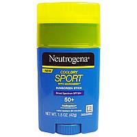 Neutrogena, Карандаш-солнцезащитный крем Кул Драй Спорт с микросеткой, фактор защиты от солнца SPF 50+, 1,5 жидк. унц. (42 мл)