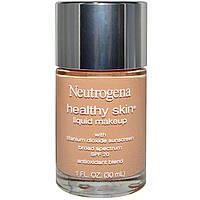 Neutrogena, Здоровая кожа, жидкий макияж, SPF 20, цвет натуральный тан 100, 1 жидкая унция (30 мл)
