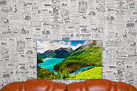 """Картина на холсте """"Лес. Озеро. Луга. Природа"""". 50х30 см."""