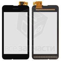 Тачскрин (сенсор) для мобильного телефона Nokia 530 Lumia, черный