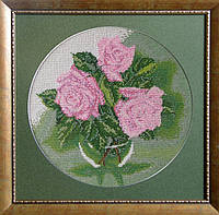 "Схема для вышивки бисером на шелковом полотне ""Троянди"""