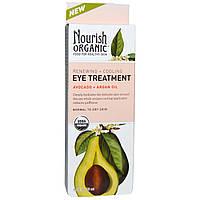 Nourish Organic, Уход для глаз с восстанавливающим и охлаждающим эффектом, авокадо + аргановое масло, 0,5 жидких унций (15 мл)
