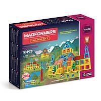 Магнитный конструктор Деревня, 110 элементов, серия Строительство домов, Magformers