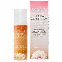 Pacifica, Natural Minerals, Ultra CC Cream, Radiant Foundation, Natural/Medium, SPF 17 with Coconut Water for All Skin Types, 1 fl oz