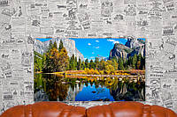 "Картина на холсте ""Эль-Капитан. Горная вершина США. Природа"". 70х40 см."