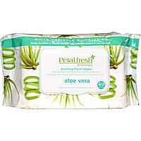 Petal Fresh, Успокаивающие салфетки для лица, алоэ вера, 60 шт.