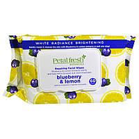 Petal Fresh, Petal Fresh Botanicals, Repairing Facial Wipes, Blueberry & Lemon, 60 Wipes