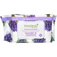 Petal Fresh, Успокаивающие салфетки для лица, Лаванда & розмарин, 60 салфеток