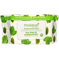 Petal Fresh, Clarifying Facial Wipes, Tea Tree & Peppermint, 60 Count