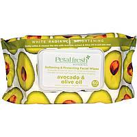 Petal Fresh, Смягчающие & защитные салфетки для лица, Авокадо & оливковое масло, 60 салфеток