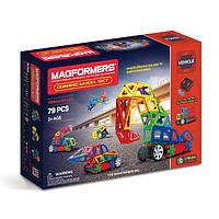 Магнитный конструктор Динамические колеса, 79 элементов, серия Средства передвижения, Magformers