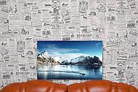 """Картина на холсте """"Горы. Море. Зима. Природа"""". 50х30 см."""